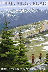 Trail Ridge Road - Rocky Mountain National Park by Lantern Press