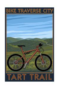 Traverse City, Michigan - Bike Tart Trail by Lantern Press