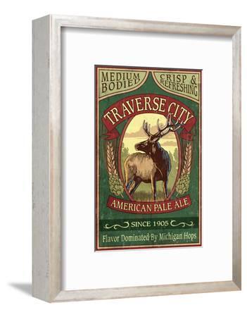 Traverse City, Michigan - Elk Head Pale Ale Vintage Sign
