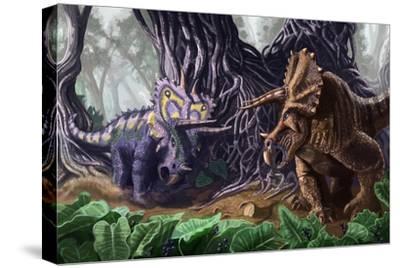 Tricerotops Charging Dinosaur