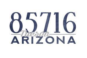 Tucson, Arizona - 85716 Zip Code (Blue) by Lantern Press