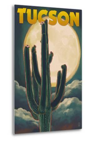 Tucson, Arizona Cactus and Full Moon