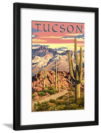 Tucson, Arizona Sunset Desert Scene