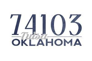 Tulsa, Oklahoma - 74103 Zip Code (Blue) by Lantern Press