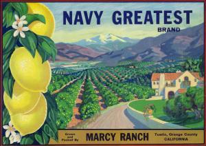 Tustin, California, Navy Greatest Brand Citrus Label by Lantern Press