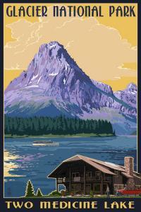 Two Medicine Lake - Glacier National Park, Montana by Lantern Press
