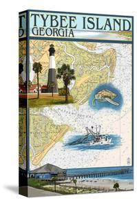 Tybee Island, Georgia - Nautical Chart by Lantern Press