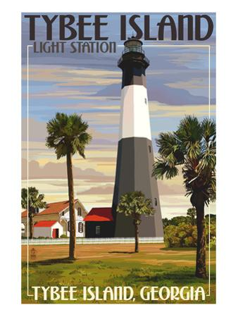 Tybee Island Light Station, Georgia by Lantern Press