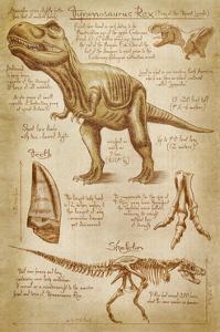 Tyrannosaurus Rex Dinosaur - DiVinci Style by Lantern Press