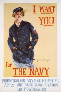 US Navy Vintage Poster - I Want You for the Navy by Lantern Press