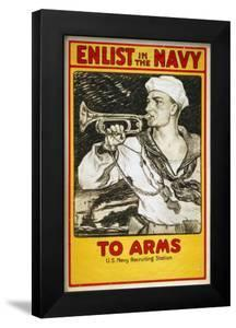 US Navy Vintage Poster - to Arms by Lantern Press