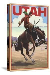 Utah - Bronco Bucking by Lantern Press