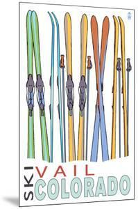 Vail, CO - Skis in Snow by Lantern Press