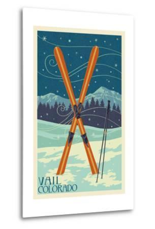 Vail, Colorado - Crossed Skis
