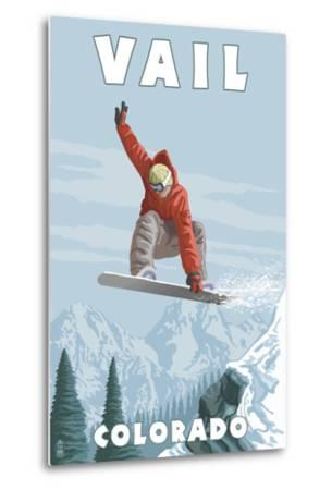 Vail, Colorado - Snowboarder Jumping