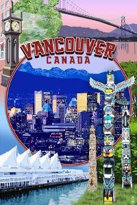 Vancouver, BC - Montage Scenes by Lantern Press