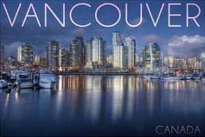 Vancouver, Canada - Marina and City by Lantern Press
