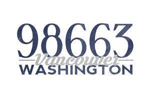 Vancouver, Washington - 98663 Zip Code (Blue) by Lantern Press