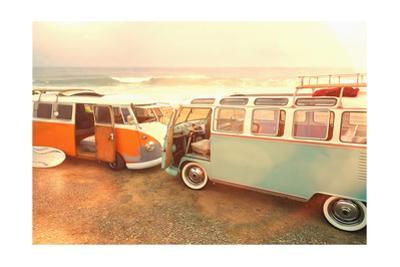 Vans on Beach