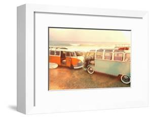 Vans on Beach by Lantern Press