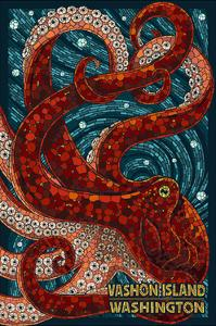 Vashon Island, Washington - Octopus Mosaic by Lantern Press
