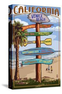 Venice Beach, California - Destination Sign by Lantern Press