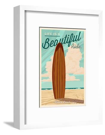 Venice Beach, California - Life is a Beautiful Ride - Surfboard
