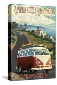 Venice Beach, California - VW Van Cruise by Lantern Press
