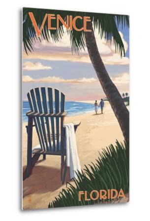 Venice, Florida - Adirondack Chair on the Beach