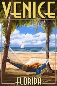 Venice, Florida - Palms and Hammock by Lantern Press