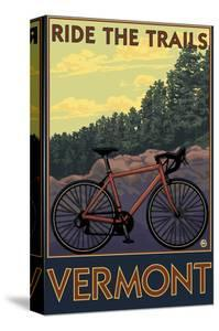 Vermont - Bicycle Scene by Lantern Press