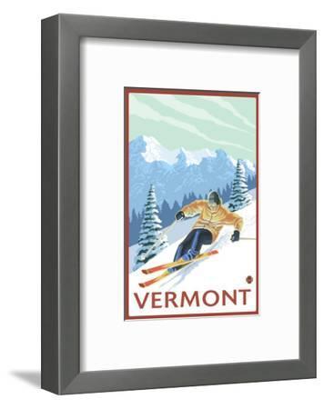 Vermont - Downhill Skier Scene