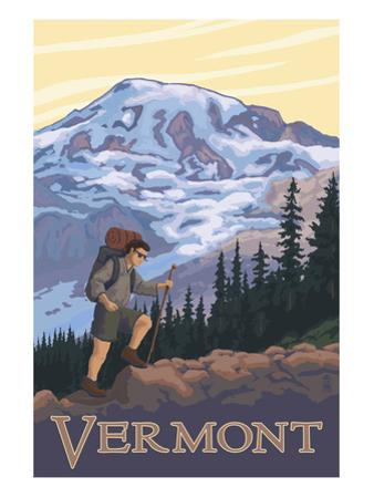 Vermont Mountain Hiker by Lantern Press