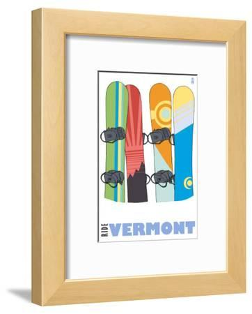 Vermont, Snowboards in the Snow