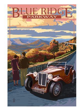 Viaduct Scene at Sunset - Blue Ridge Parkway