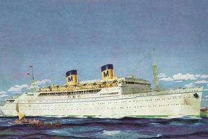 View of Matson Liner SS Lurline by Lantern Press