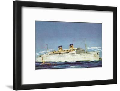 View of Matson Liner SS Lurline