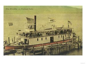 View of the Klondike Riverboat - Flathead Lake, MT by Lantern Press