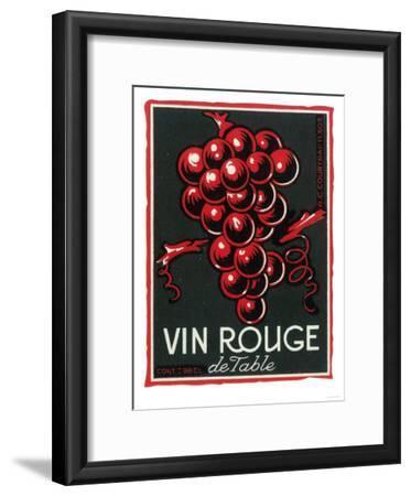 Vin Rouge De Table Wine Label - Europe