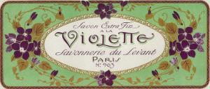 Violette Soap Label - Paris, France by Lantern Press