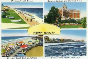 Virginia Beach, Virginia, Famous Scenes of the City by Lantern Press