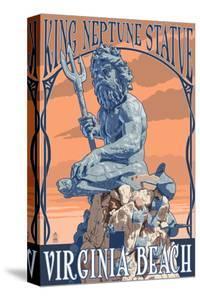 Virginia Beach, Virginia - King Neptune Statue by Lantern Press
