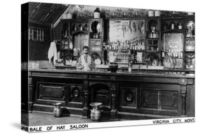 Virginia City, Montana - Interior View of Bale of Hay Saloon