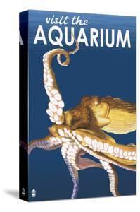 Visit the Aquarium, Octopus Scene by Lantern Press