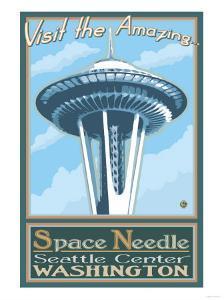 Visit the Space Needle, Seattle, Washington by Lantern Press