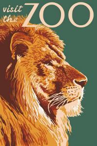 Visit the Zoo, Lion Up Close by Lantern Press