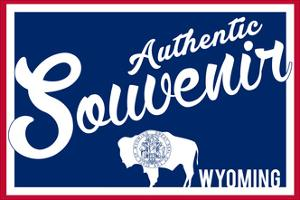Visited Wyoming - Authentic Souvenir by Lantern Press