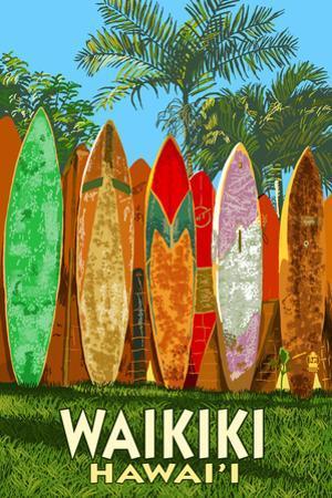 Waikiki, Hawai'i - Surfboard Fence