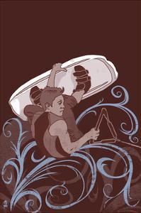 Wakeboarder - Stylized by Lantern Press