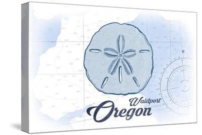 Waldport, Oregon - Sand Dollar - Blue - Coastal Icon